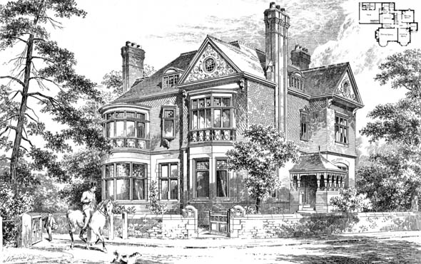 1896 – House at Blackburn Park, Didsbury, Lancashire