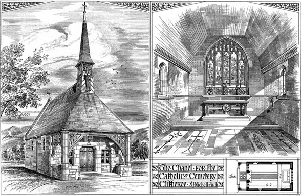 1879 &#8211; Chapel for The Catholic Cemetery, Clitheroe, Lancashire