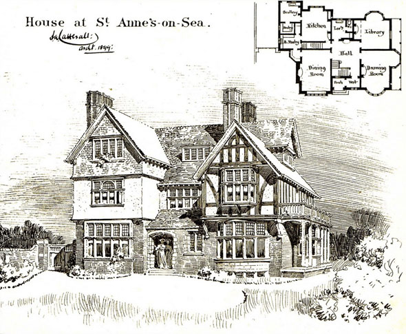 1900 &#8211; House at St. Anne&#8217;s on Sea, Lancashire