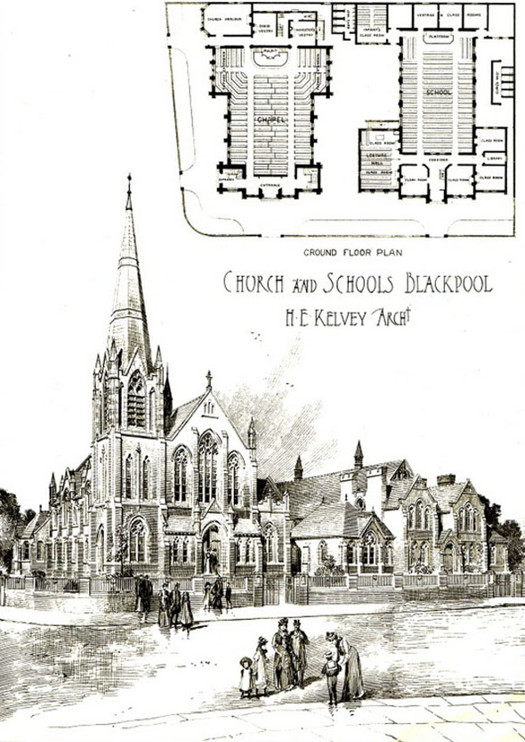 1904 – Church & Schools, Blackpool, Lancashire