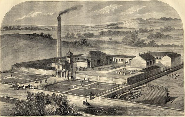 1866 – Estate Workshops at Redvales, Lancashire