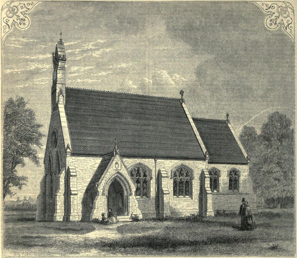 1855 &#8211; Holy Cross Church, Croston, Lancashire
