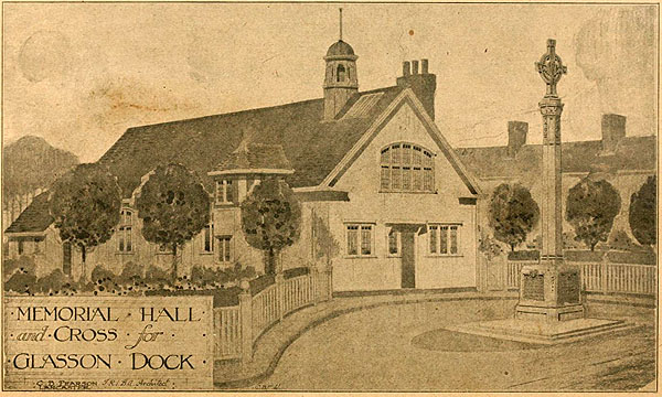 1920 – Memorial Hall & Cross, Glasson Dock, Lancaster