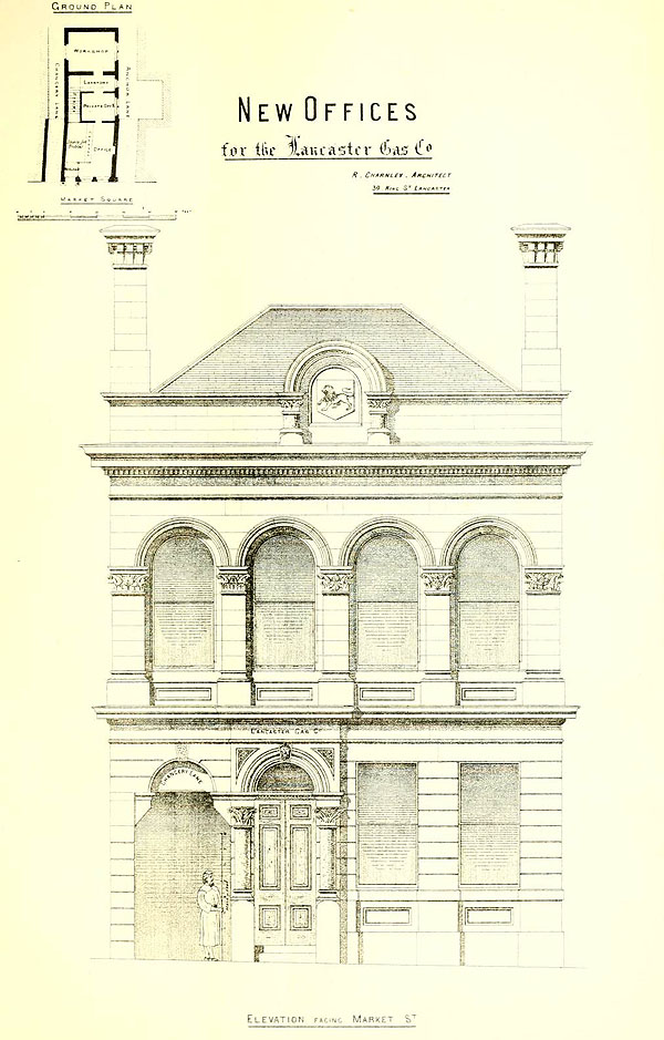 1874 – Offices for Lancaster Gas Company, Lancashire