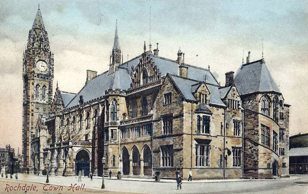 1871 – Town Hall, Rochdale, Lancashire
