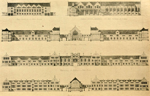 1919 – Selected design for School, Chorley New Road, Bolton, Lancashire