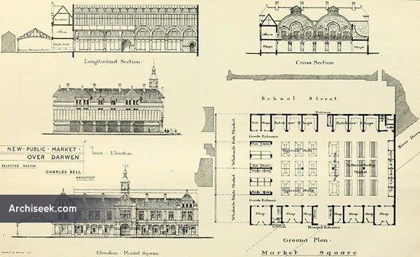 1879 – Selected design for Public Market, Over Darwen, Lancashire