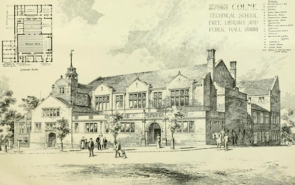 1898 – Technical School & Library, Colne, Lancashire