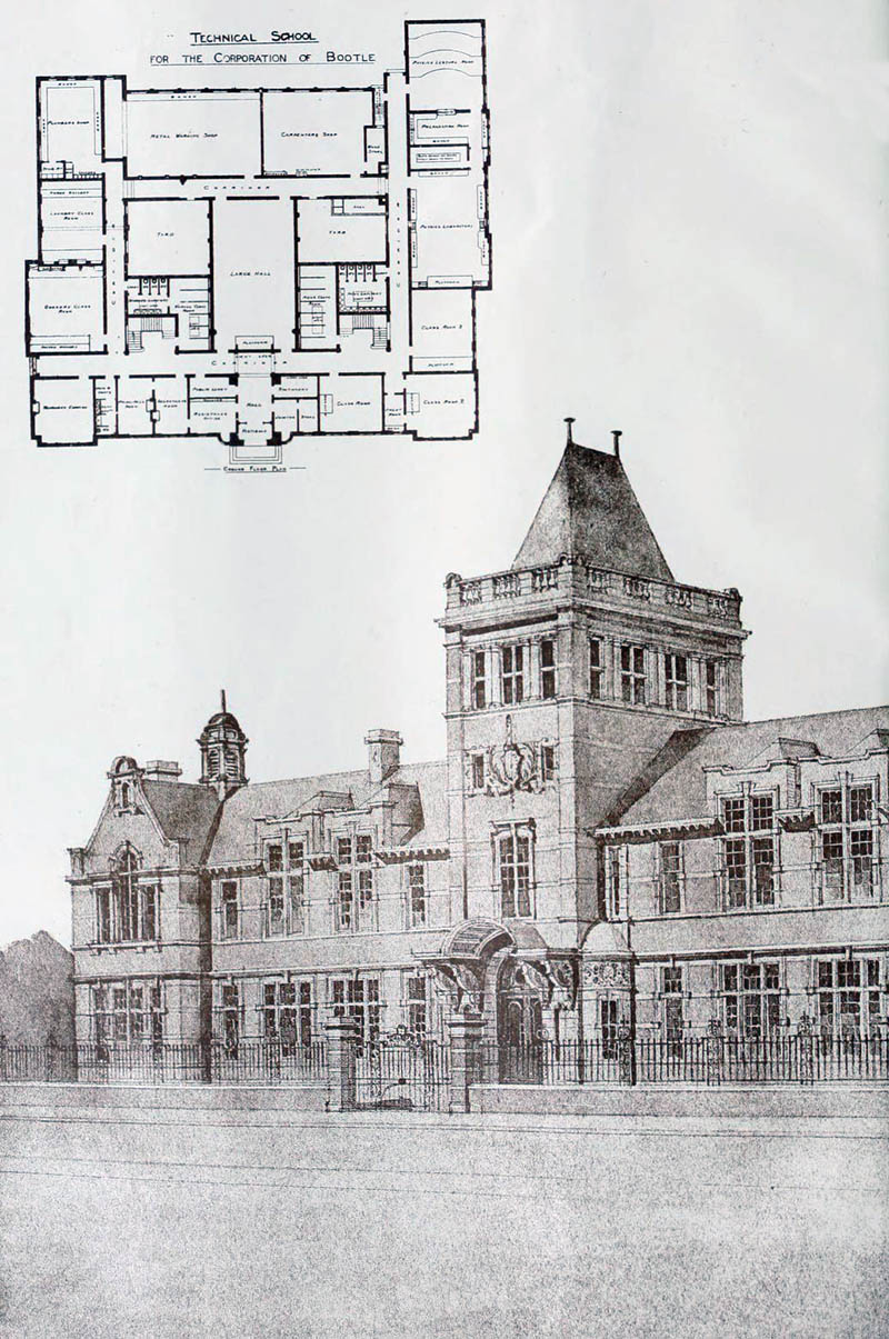 1898 technical school bootle lancashire architecture