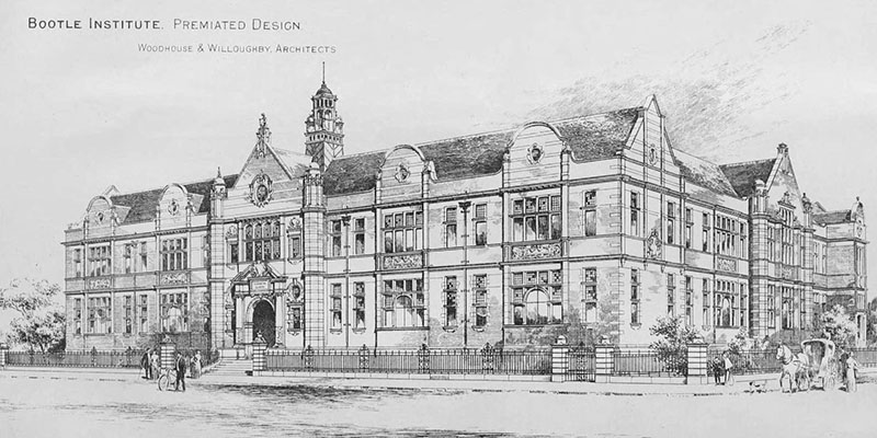 1898 – Premiated Design for Technical Institute, Bootle, Lancashire