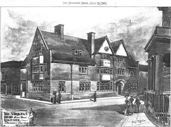 1901 &#8211; The Saracens Head, Hotel Street, Leicester, Leicestershire
