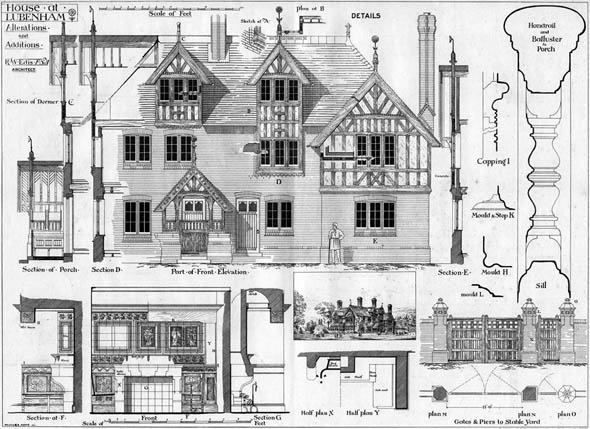 1877 &#8211; House at Lubenham, Leicestershire