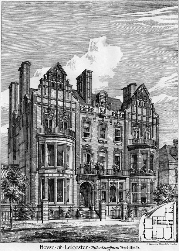 1878 &#8211; House at Leicester, Leicestershire