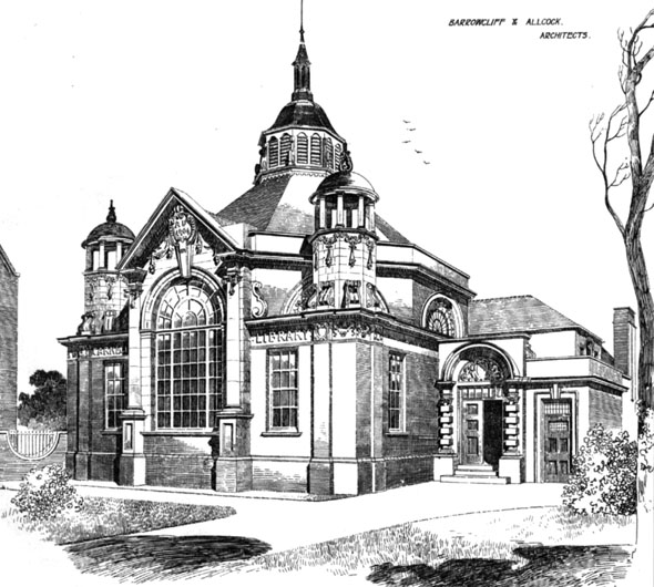 1906 &#8211; New Carnegie Library, Loughborough, Leicestershire