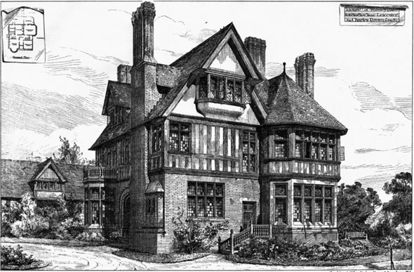 1880 &#8211;  House at Stoneygate, Leicester, Leicestershire