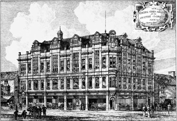 1884 – New Central Stores & Offices, Leicester Co-operative Society
