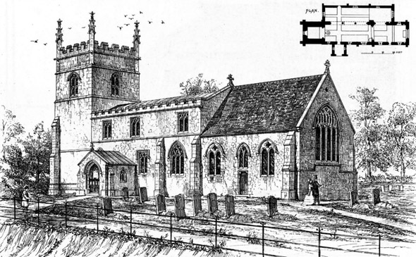 1869 &#8211; Kimcote Church, Leicestershire