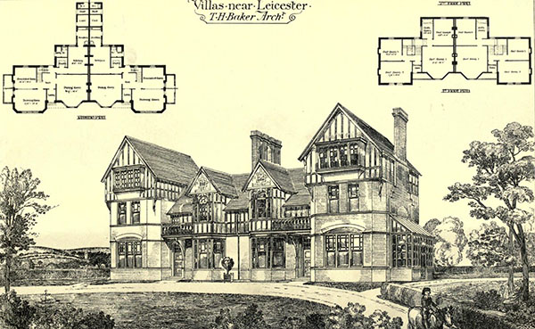 1879 – Villas near Leicester, Leicestershire