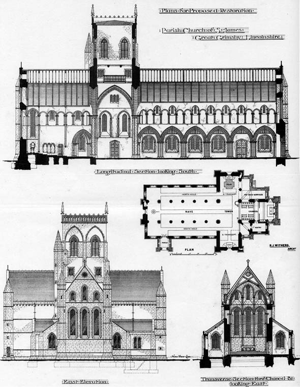 1875 – Proposed Restoration St. James's Church, Grimsby, Lincolnshire