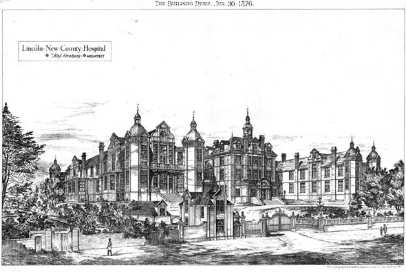 1876 &#8211; Lincoln New County Hospital, Lincolnshire