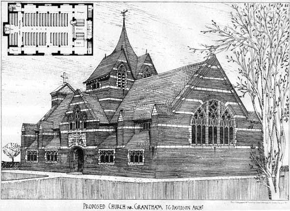 1905 &#8211; Proposed Church, Grantham, Lincolnshire