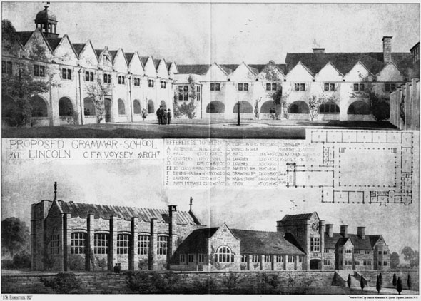 1905 &#8211; Proposed Grammar School, Lincoln, Lincolnshire