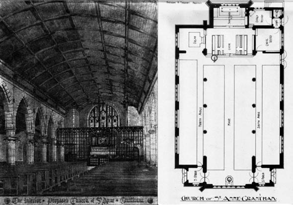 1906 – Proposed Church of St. Anne, Grantham, Lincolnshire