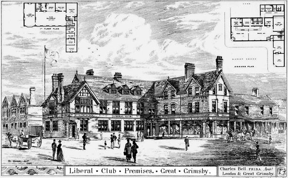 1884 &#8211; Liberal Club Premises, Great Grimsby, Lincolnshire