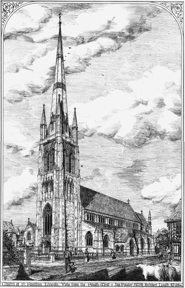 1884 &#8211; Church of St. Swithin, Lincoln, Lincolnshire