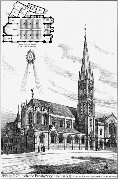 1886 – St. Hugh's Church & Presbytery, Lincoln