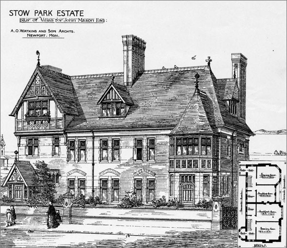 1879 &#8211; Pair of Villas, Stow Park Estate, Lincolnshire