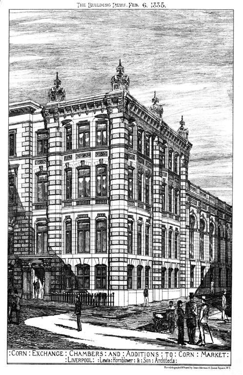 1885 &#8211; Corn Exchange &#038; Chambers, Corn Market, Liverpool, Lancashire