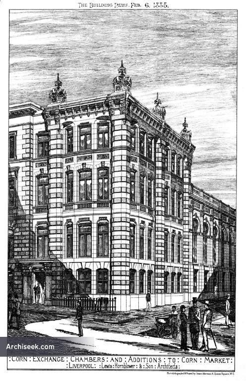 1885 – Corn Exchange & Chambers, Corn Market, Liverpool, Lancashire