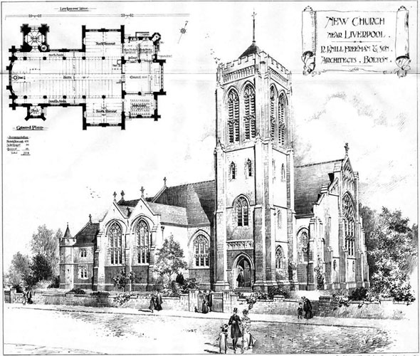 1905 – New Church Near Liverpool, Lancashire