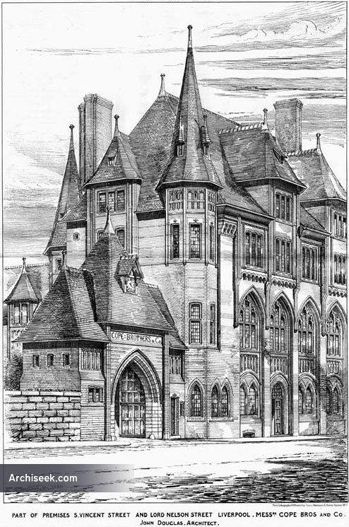 1880 – Commercial Premises, St. Vincent St & Lord Nelson St, Liverpool, Lancashire