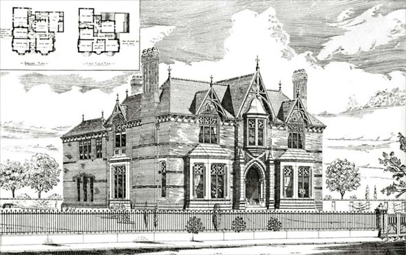 1886 &#8211; House at Sefton Park, Liverpool, Lancashire