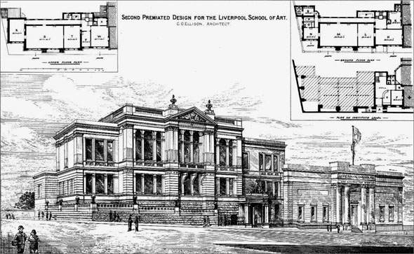 1881 – Liverpool School of Art, Lancashire
