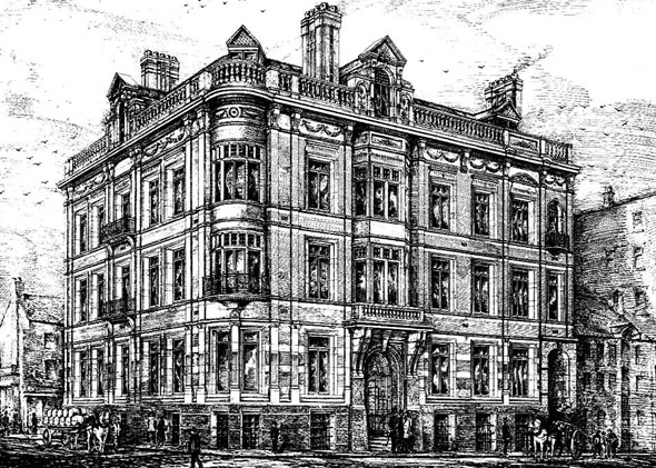 1880 &#8211; Commercial Sale Room Buildings, Liverpool, Lancashire