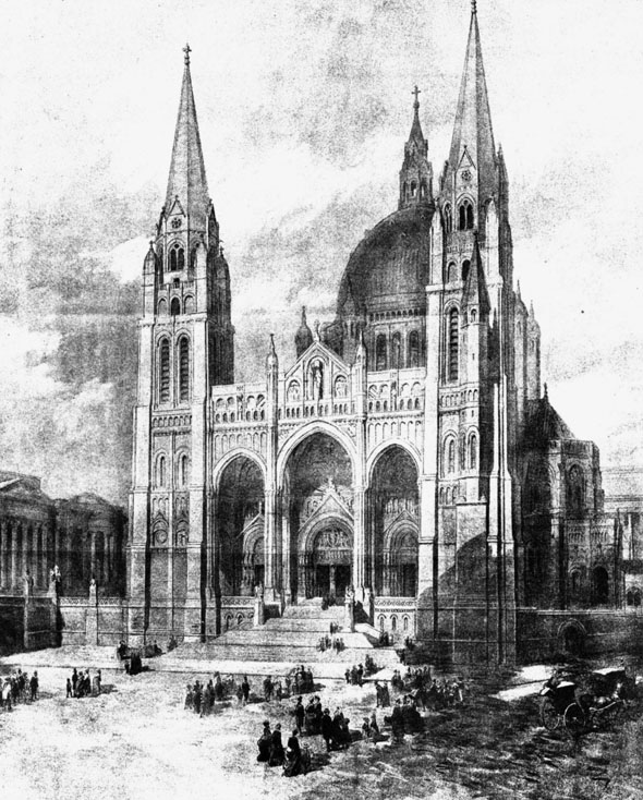 1886 – Selected Design, Liverpool Cathedral Competition