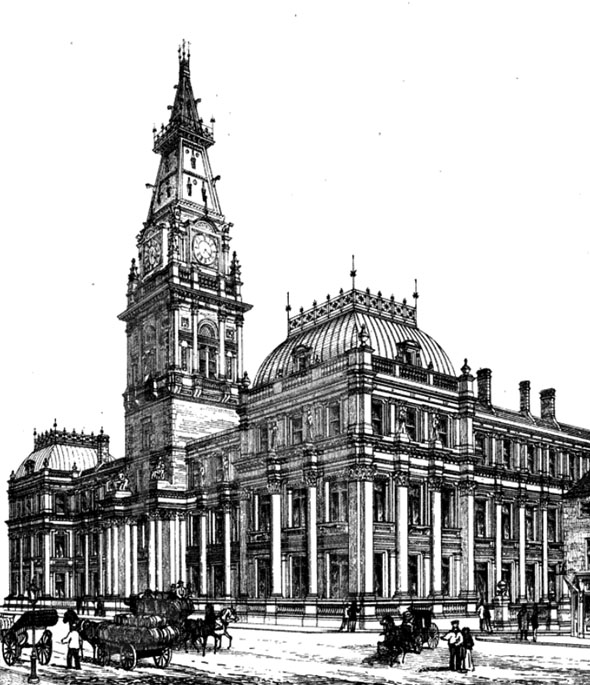 1869 – New Municipal Offices, Liverpool, Lancashire