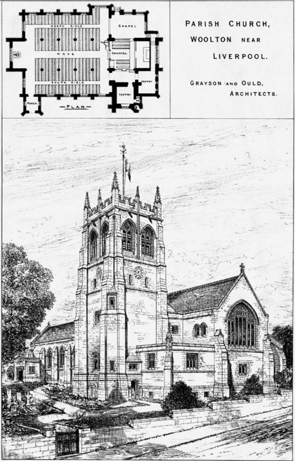 1887 &#8211; Parish Church, Woolton, Liverpool, Lancashire