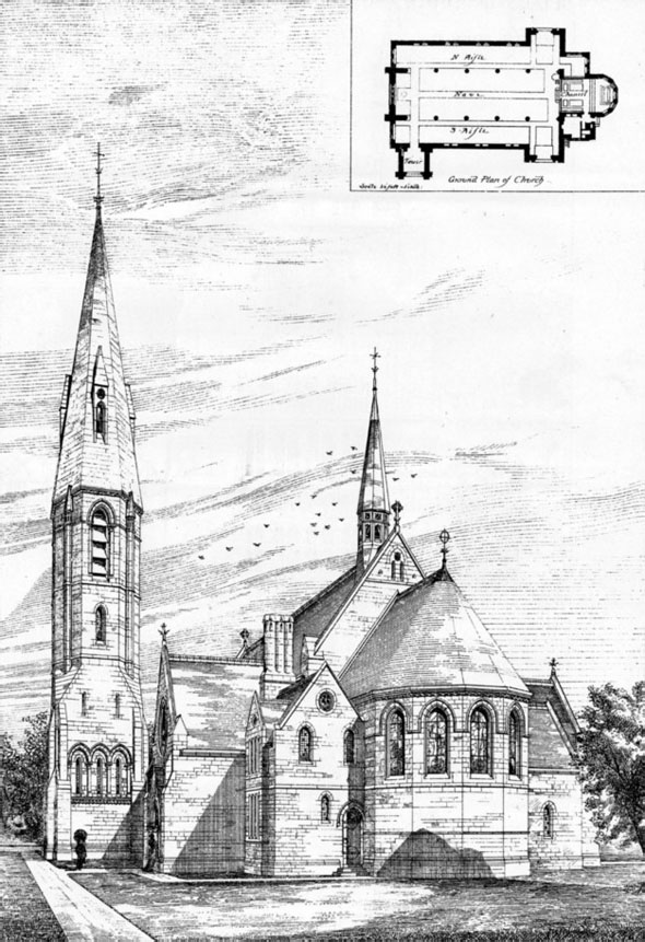 1876 – St. Peter's Church, Aintree, Liverpool