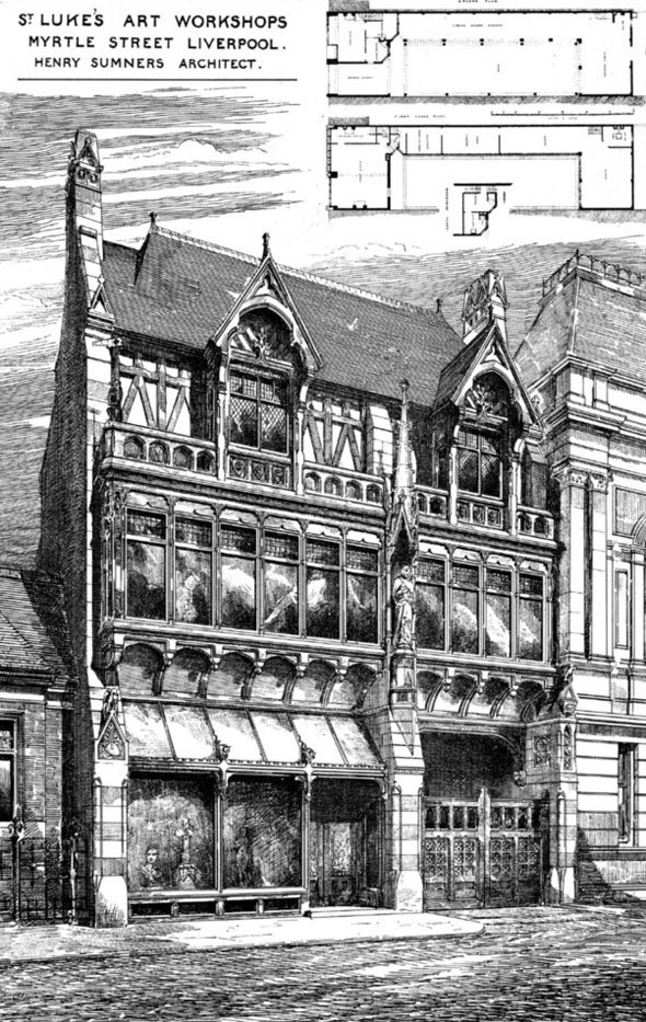 1882 – St. Lukes Art Workshops, Myrtle St., Liverpool