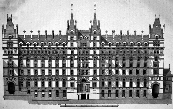 1871 – Former Great North Western Hotel, Lime Street, Liverpool