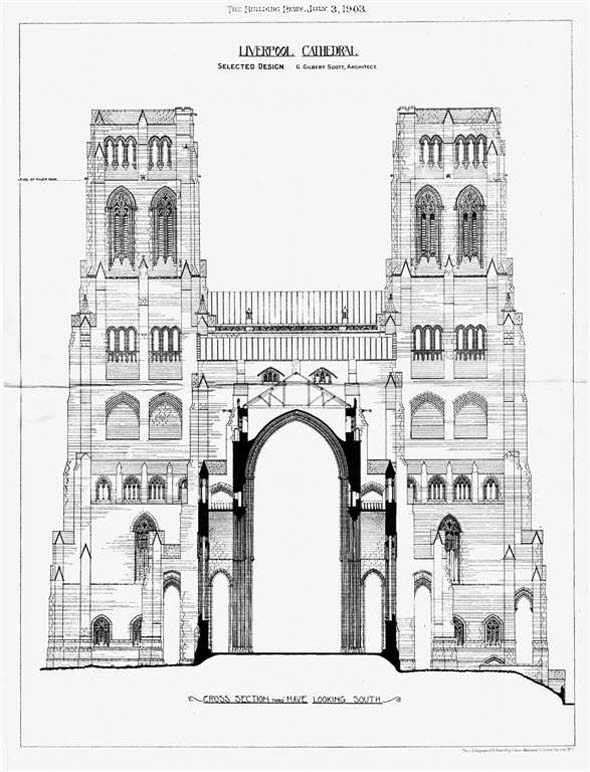 1903 – Giles Gilbert Scott's design for Liverpool Cathedral