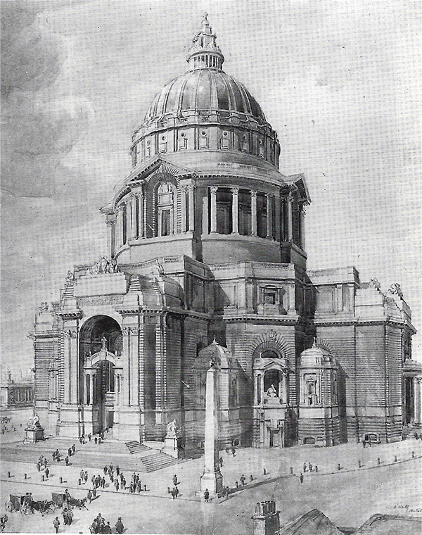 1902 – Design for new Cathedral, Liverpool