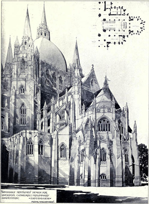 1903 – Design for the Cathedral, Liverpool