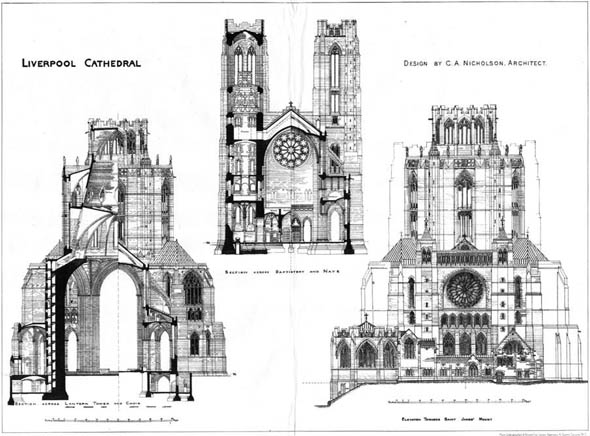 1903 – Design for Liverpool Cathedral, Lancashire