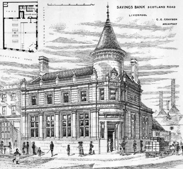 1882 – Savings Bank, Scotland Road, Liverpool, Lancashire