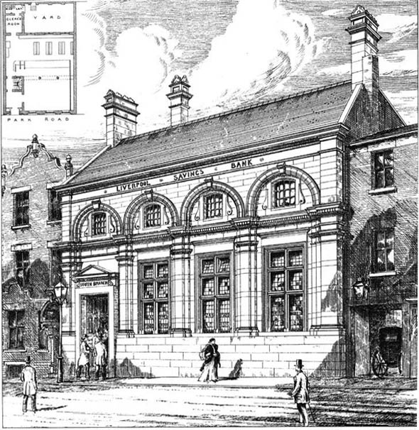1879 &#8211; South Branch, Liverpool Savings Bank, Lancashire